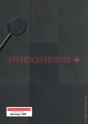 Виниловые полы PROGRESS Natural Stone Gleam Slate Black